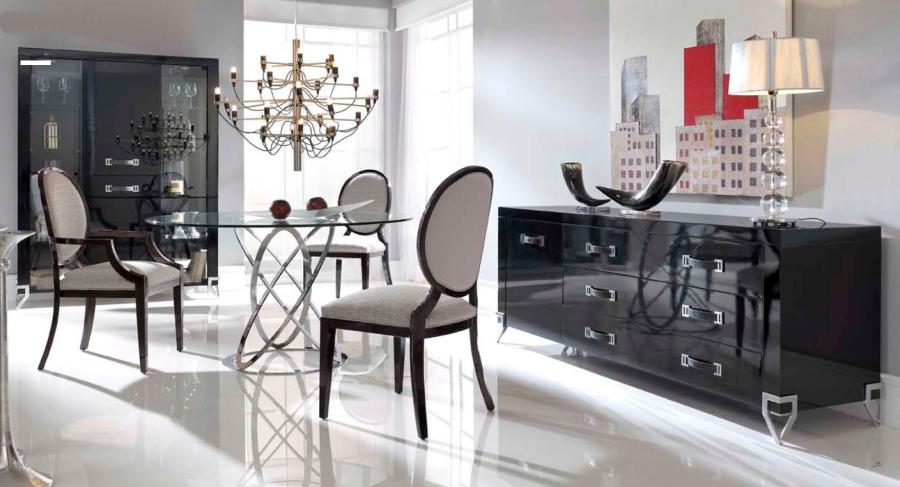 Salón en blanco y negro - Villalba Interiorismo