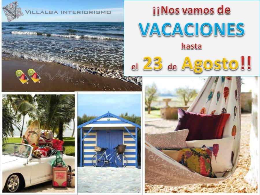 Vacaciones verano - Villalba Interiorismo
