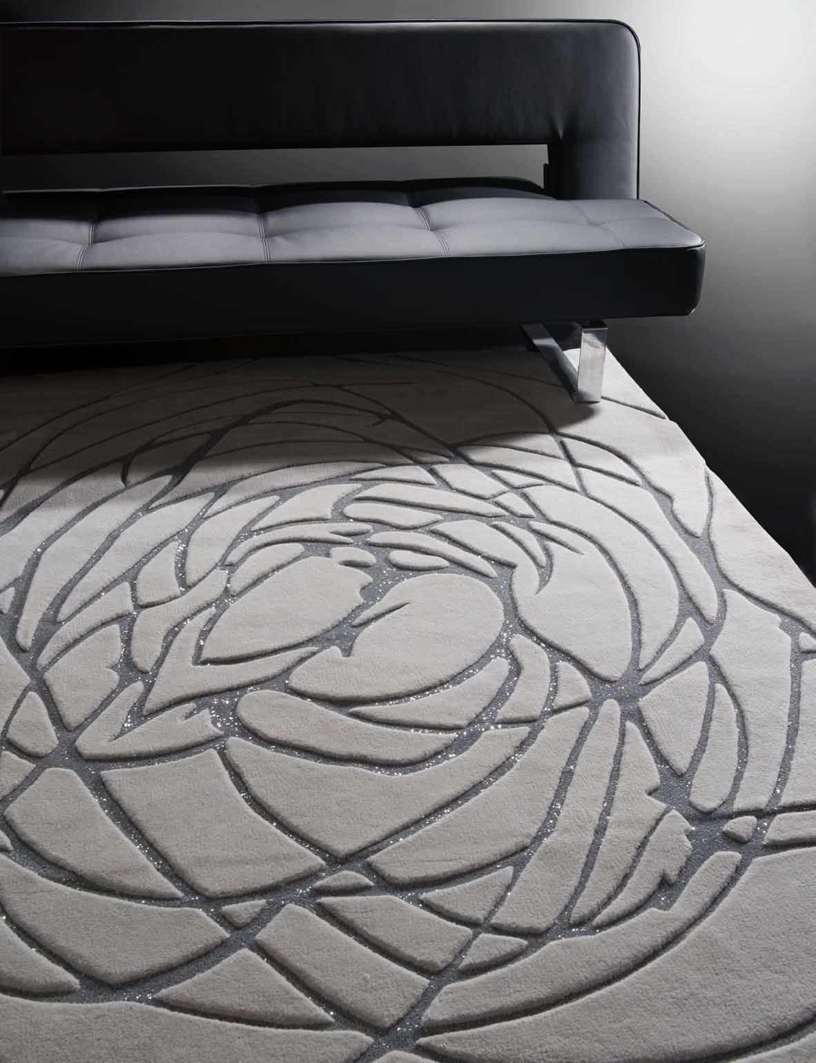 alfombra de lana con plata villalba