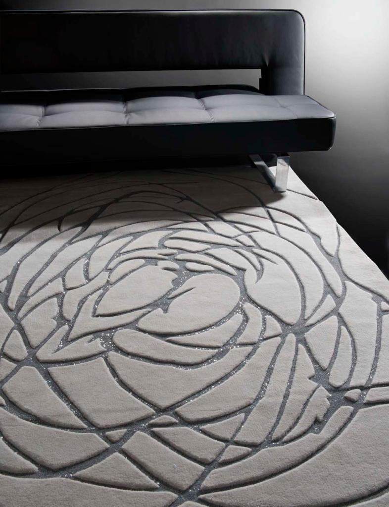 Alfombra de lana con plata - Villalba Interiorismo