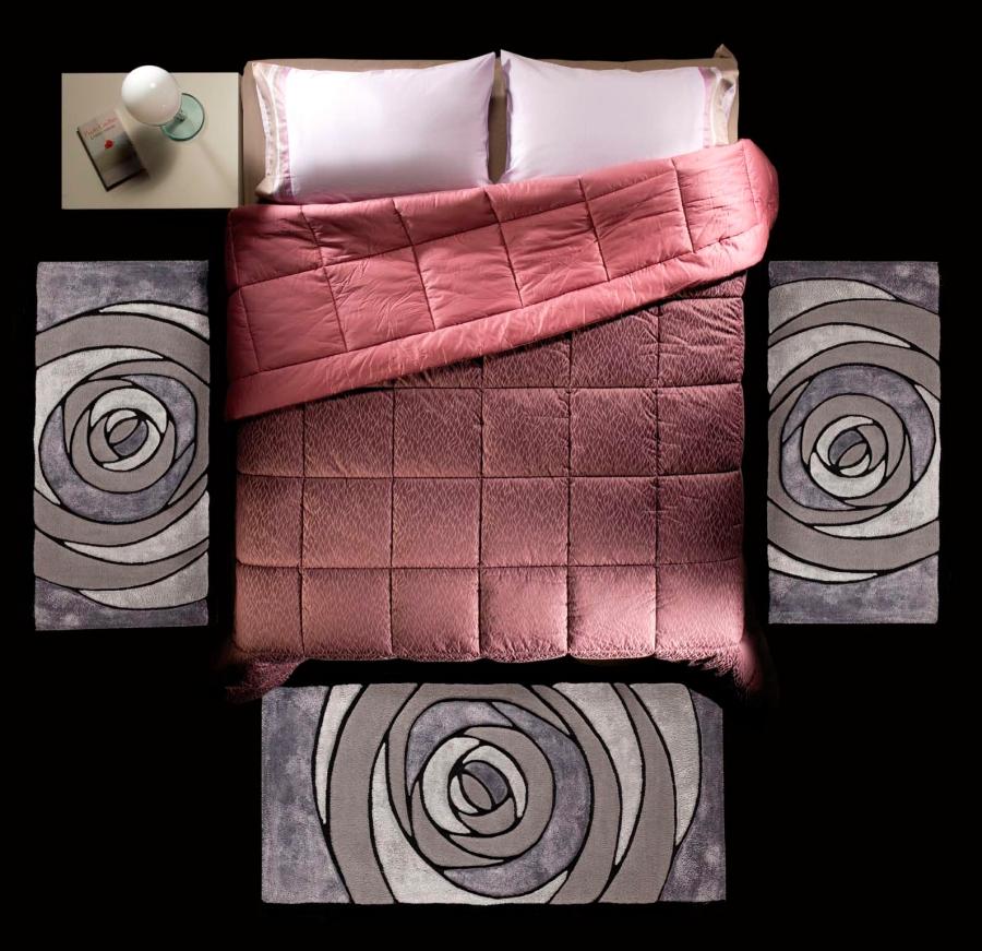 Alfombras dormitorio lana y viscosa - Villalba Interiorismo