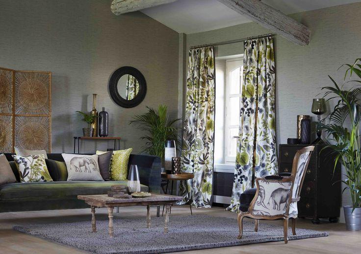 Salón gris y verde - Villalba Interiorismo