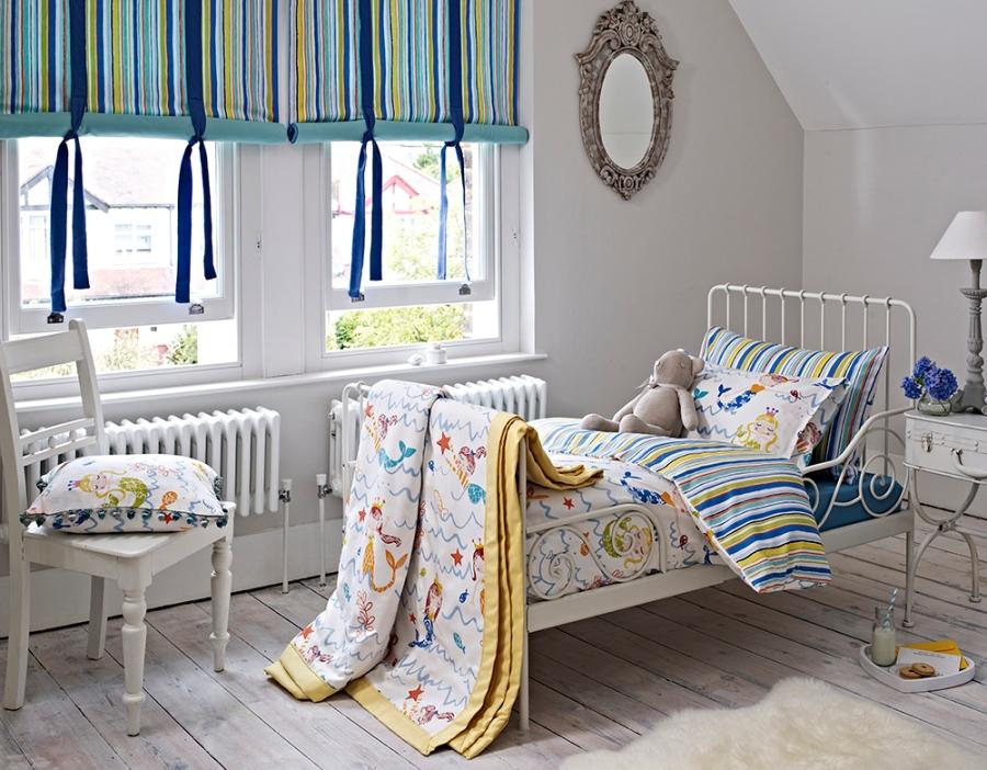 Dormitorio telas sirenitas para niñas - Villalba Interiorismo (2)