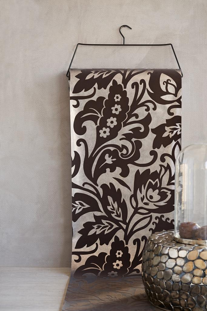 Papel pintado con brillo - Villalba Interiorismo