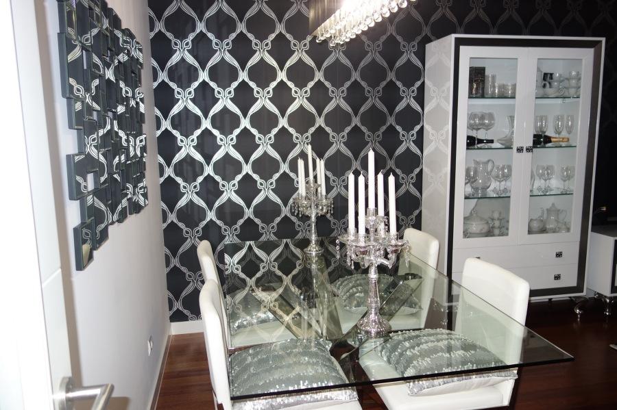 Salón muebles lacados en blanco y plata - Villalba Interiorismo (4)