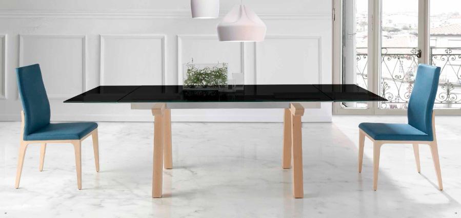 Mesa extensible madera y cristal - Villalba Interiorismo (2)
