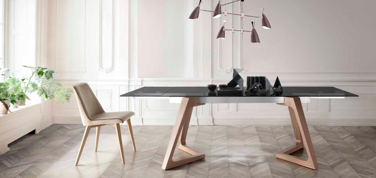 5 mesas modernas de cristal y madera villalba interiorismo for Mesas redondas de cristal para comedor