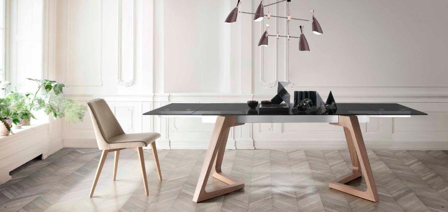 Mesa extensible madera y cristal - Villalba Interiorismo (3)