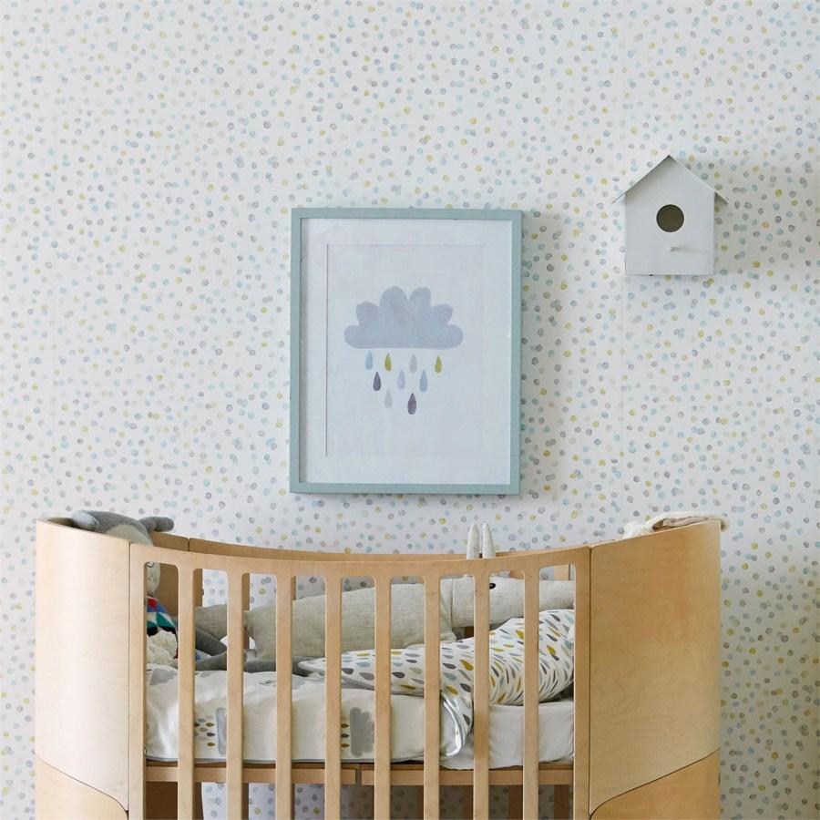 Papel pintado dormitorio bebé - Villalba Interiorismo