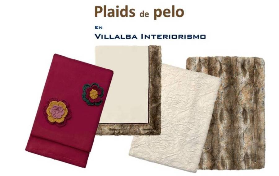 Plaids pelo - Villalba Interiorismo