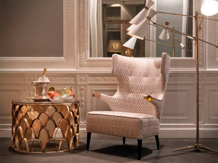 Tela tapizar y cortinas beige - Villalba Interiorismo