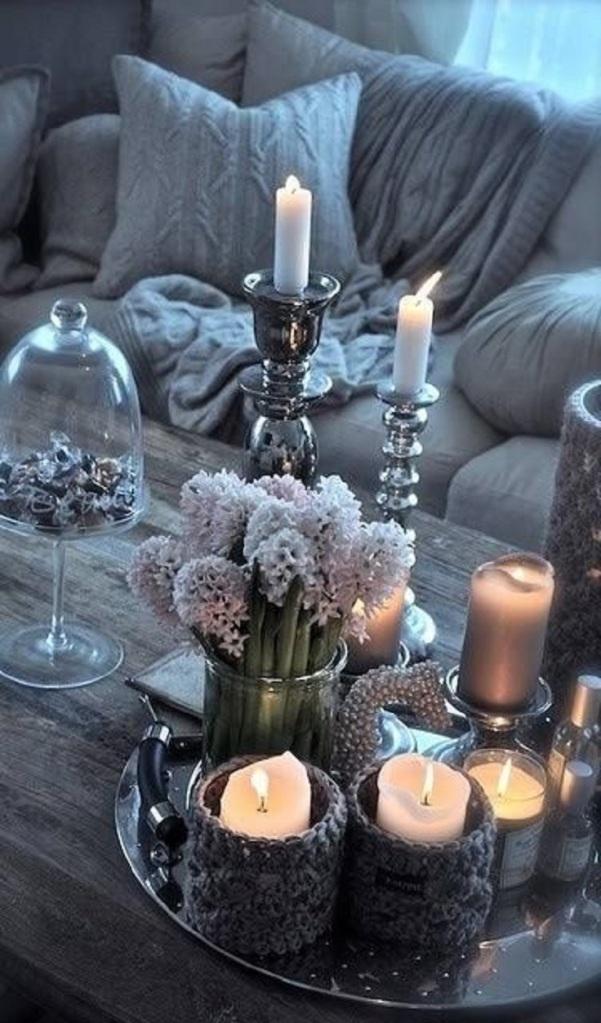 Velas en la mesa - Villalba Interiorismo