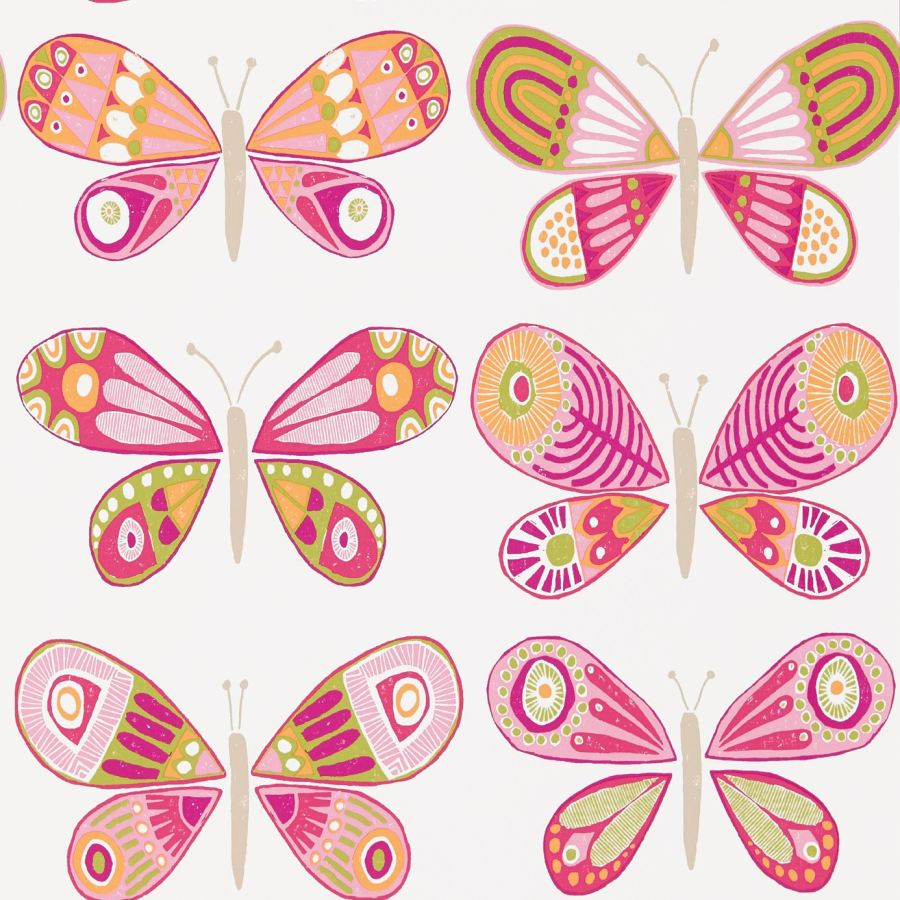 Papel pintado mariposas . Villalba Interiorismo