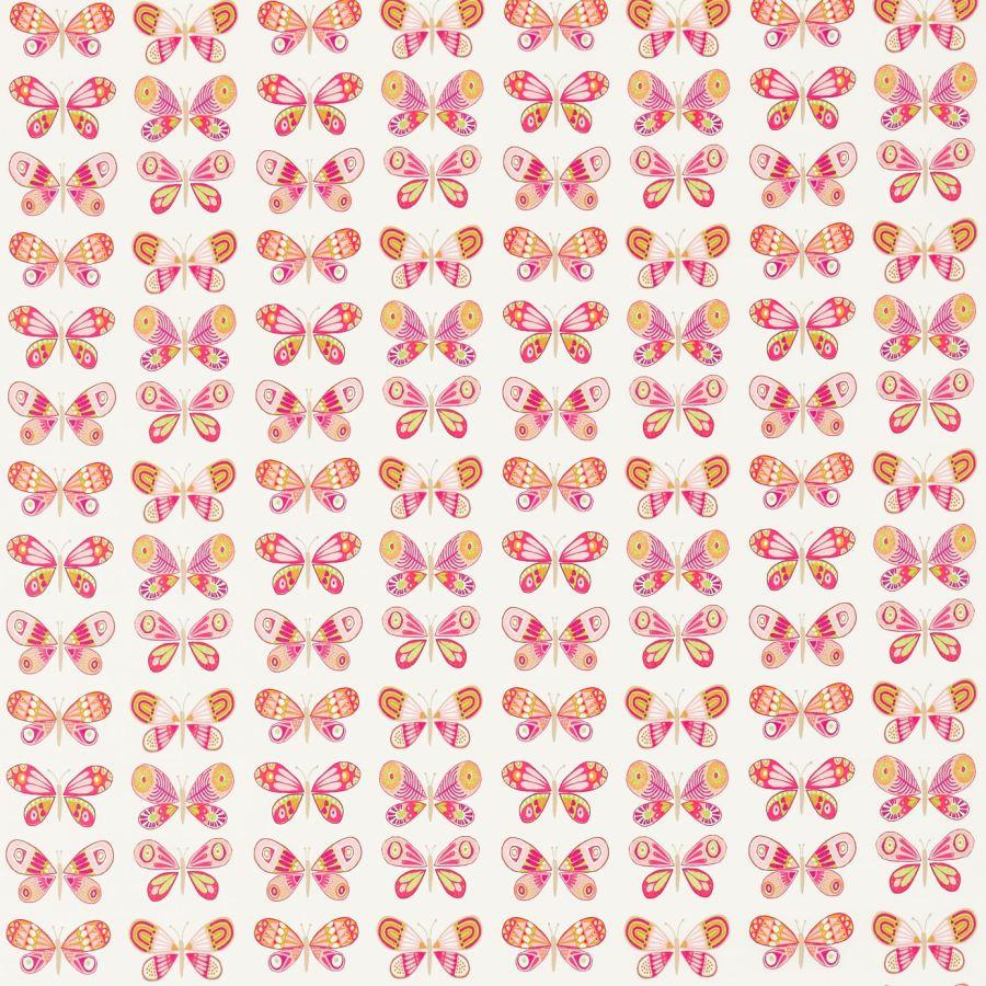 Tela estampada de mariposas - Villalba Interiorismo