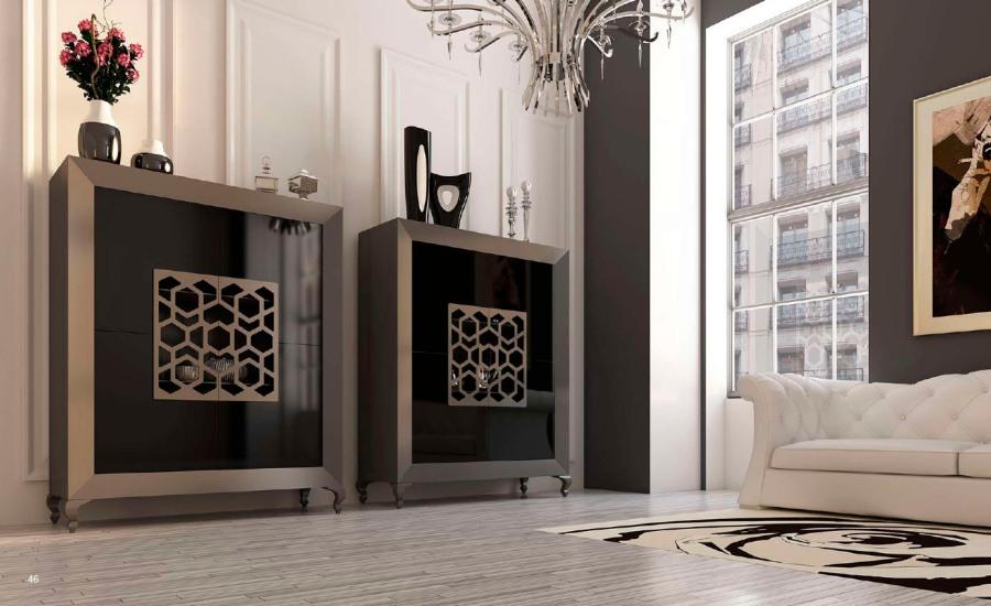 Contenedor negro y gris - Villalba Interiorismo
