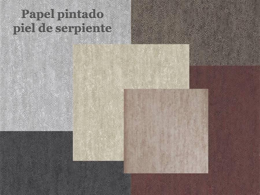 Papel pintado piel de serpiente - Villalba Interiorismo