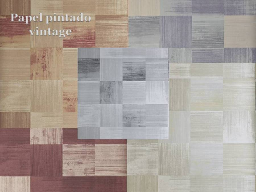 Papel pintado vintage - Villalba Interiorismo