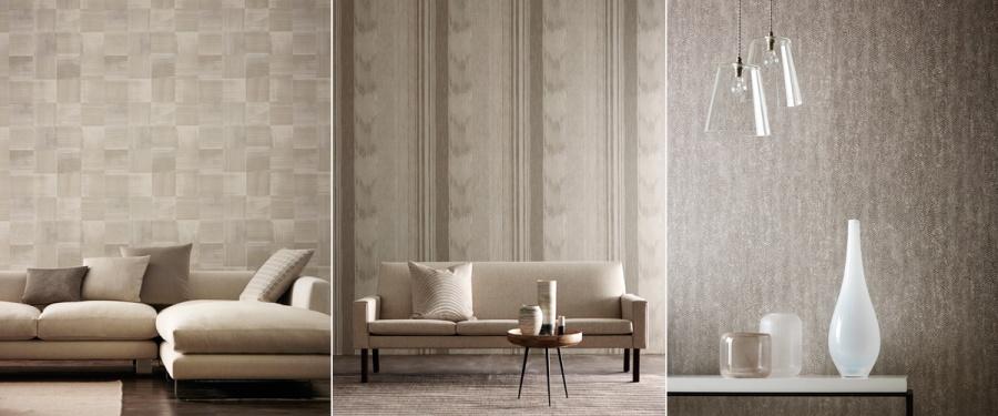 Papeles pintados tonos naturales - Villalba Interiorismo