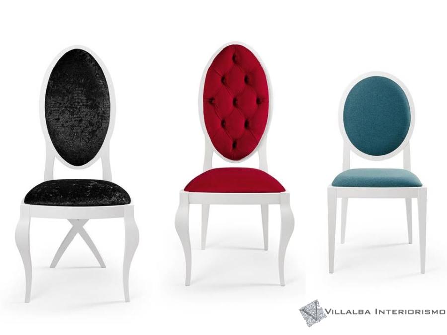Sillas con respaldo tapizado - Villalba Interiorismo