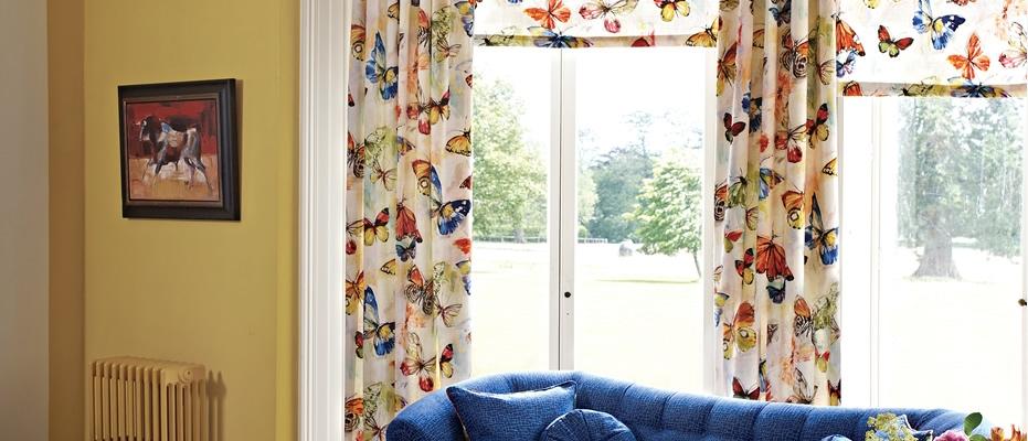 Telas estampadas para alegrar la casa en primavera villalba interiorismo - Telas estampadas para cortinas ...