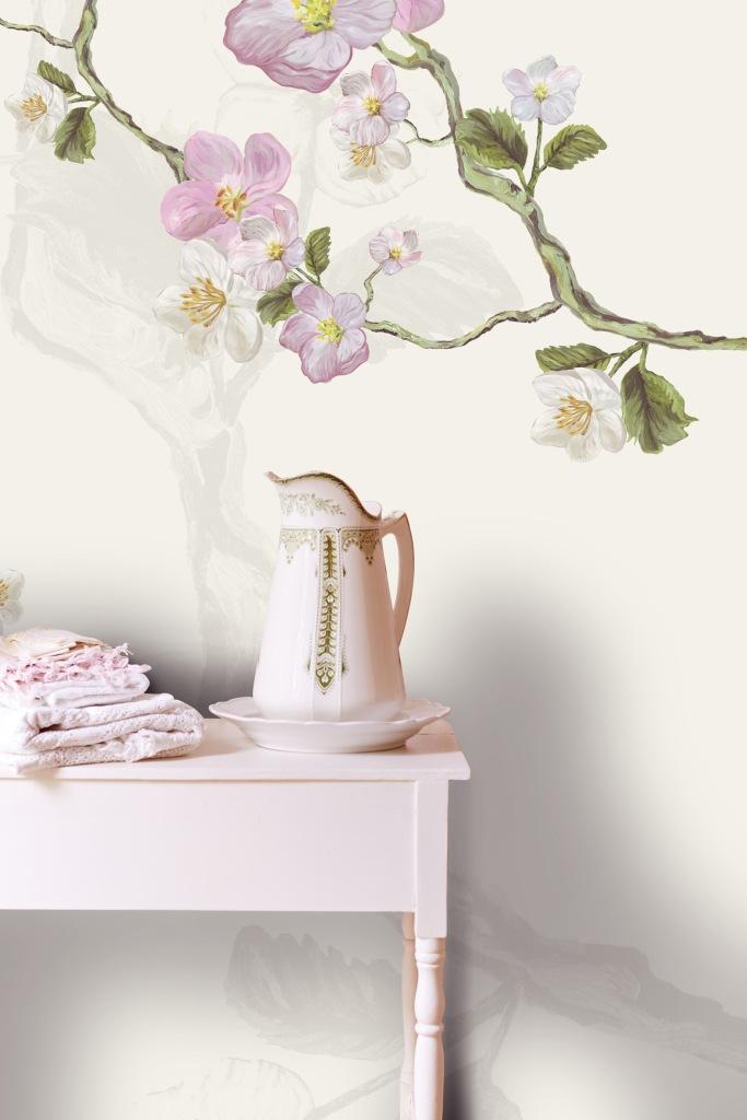 Mural con flores de Eijffinger - Villalba Interiorismo