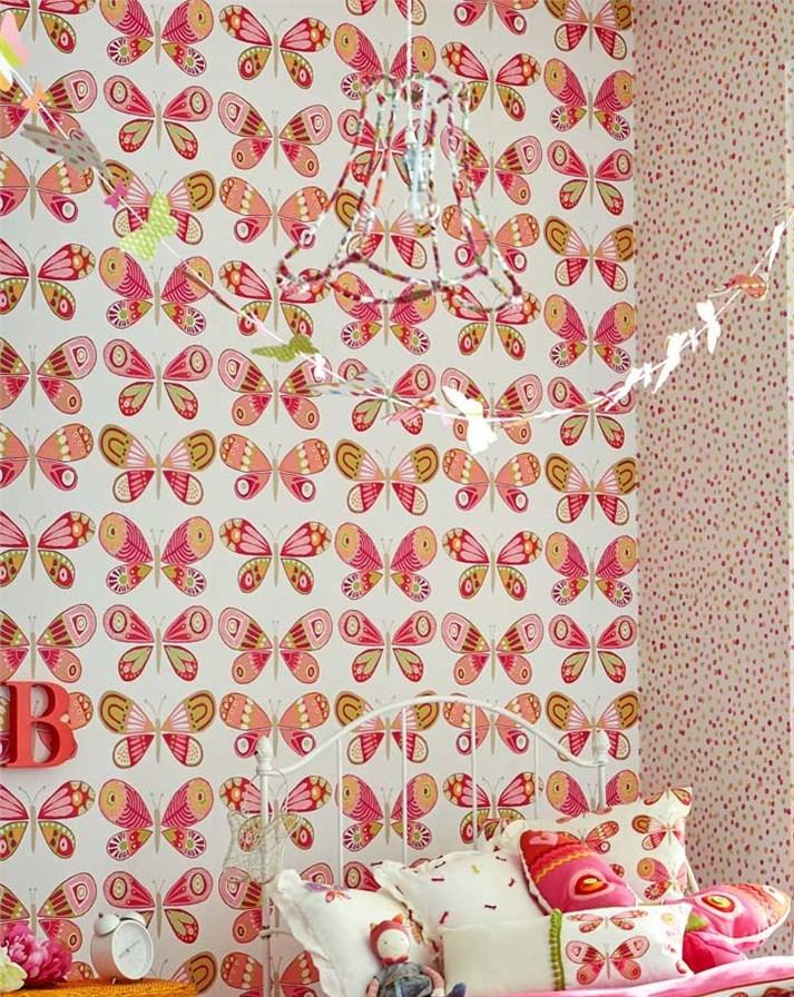Papel pintado de mariposas para niñas - Villalba Interiorismo (2)
