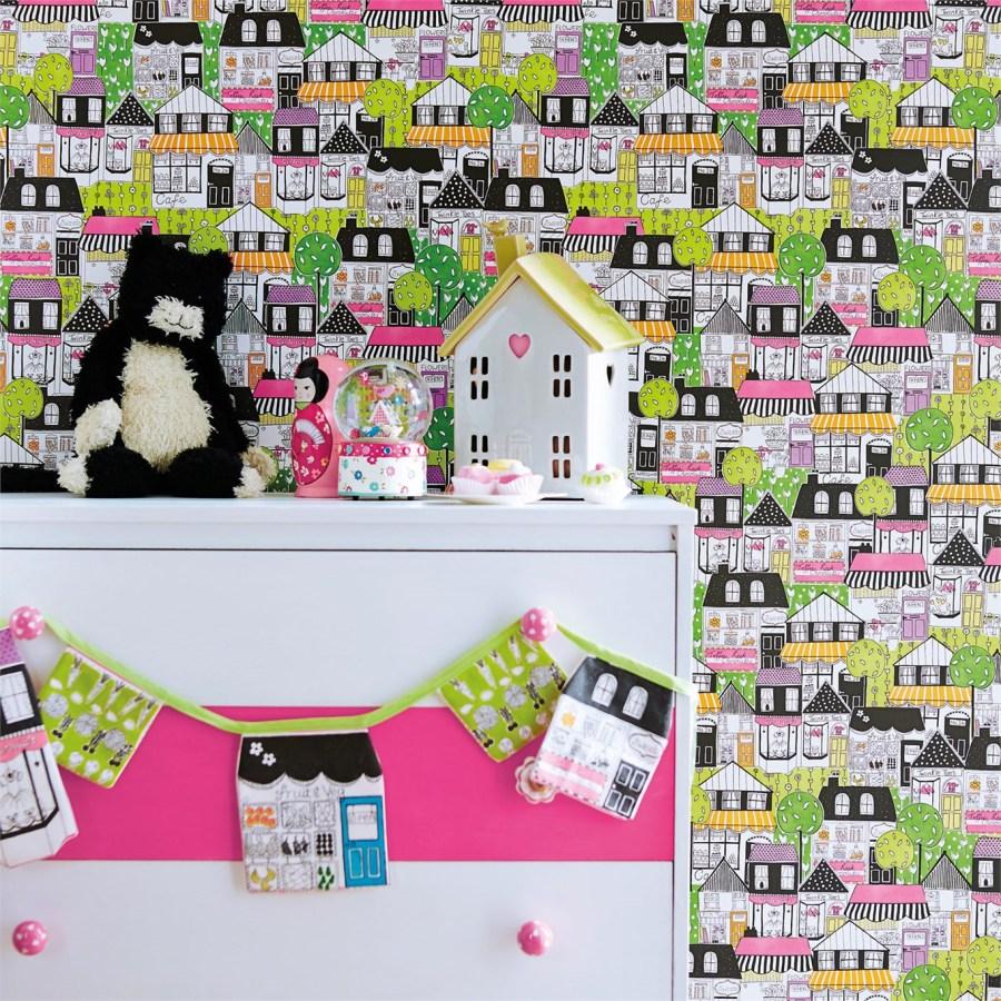Papel pintado para niñas - Villalba Interiorismo