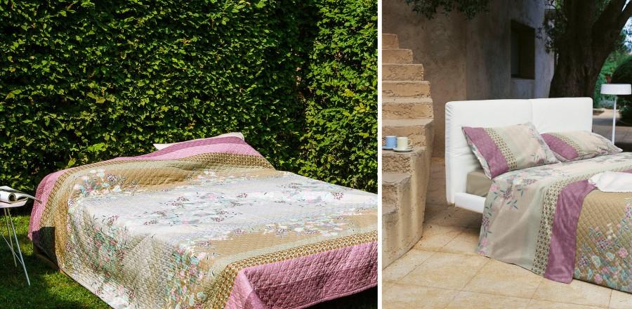 Colcha acolchada y juego sábanas de Bassetti - Villalba Interiorismo