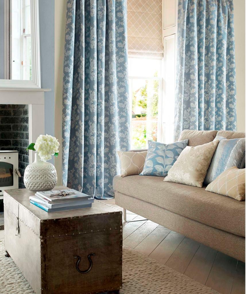 Una colecci n de telas elegantes villalba interiorismo for Cortinas ollaos para salon