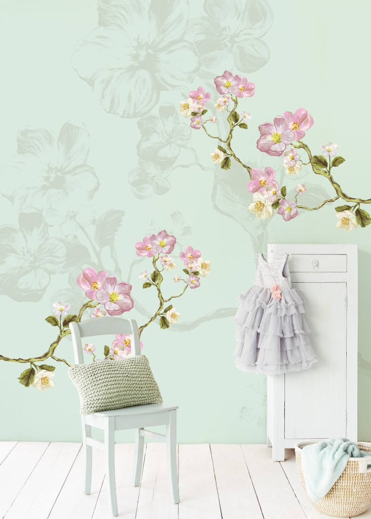 Mural de flores Eiffinger - Villalba Interiorismo
