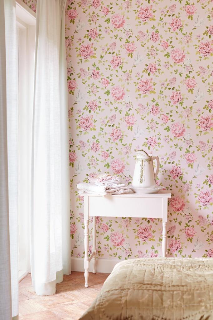 Papel pintado de flores Eijffinger - Villalba Interiorismo