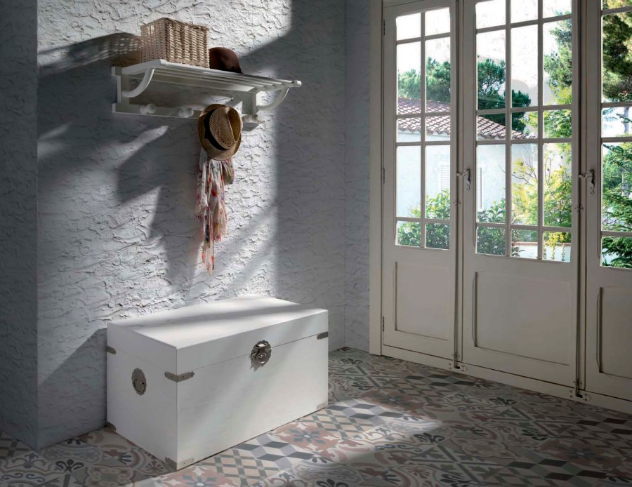 Baúl para entrada rústico vintage - Villalba Interiorismo