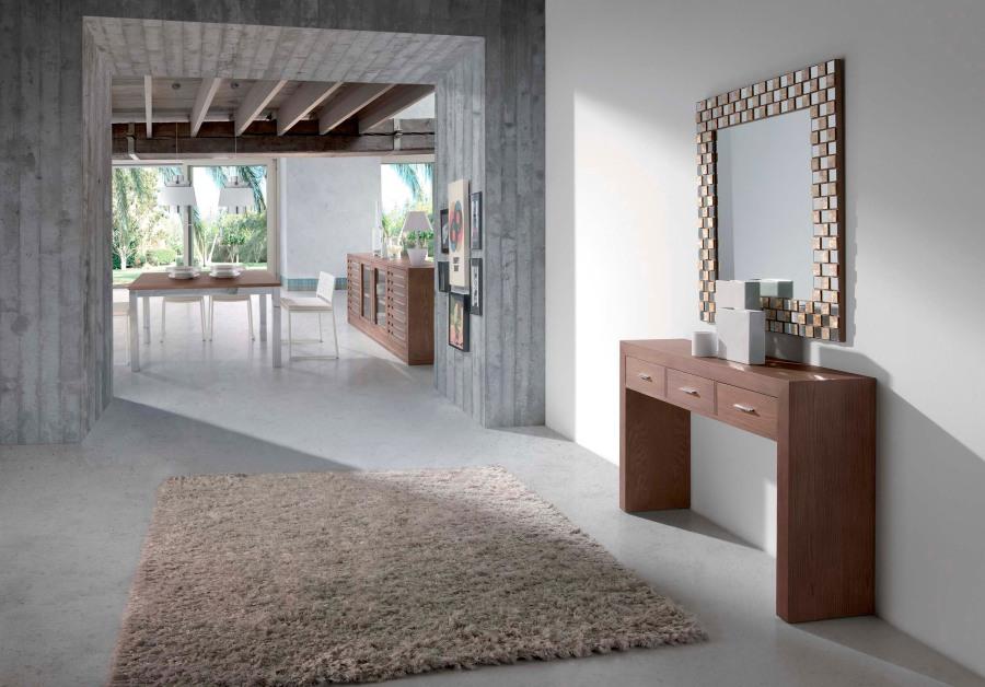Consola de madera moderna - Villalba Interiorismo