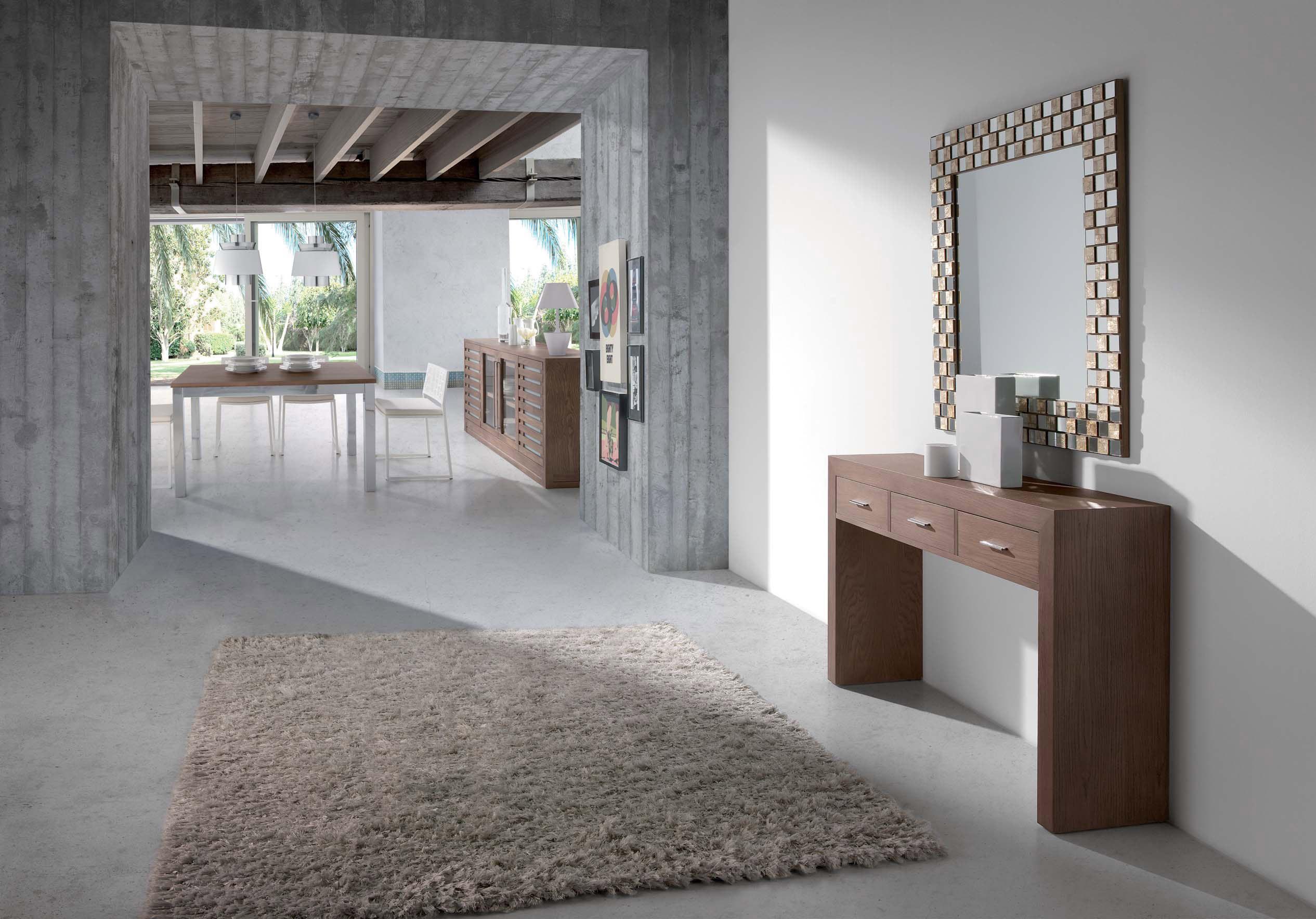 Muebles rusticos modernos madera awesome muebles sala y - Mueble recibidor rustico ...