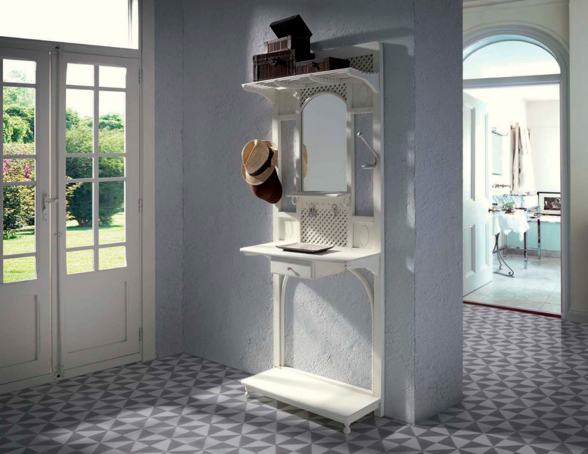Muebles para el recibidor r stico y vintage villalba - Percheros rusticos de pared ...