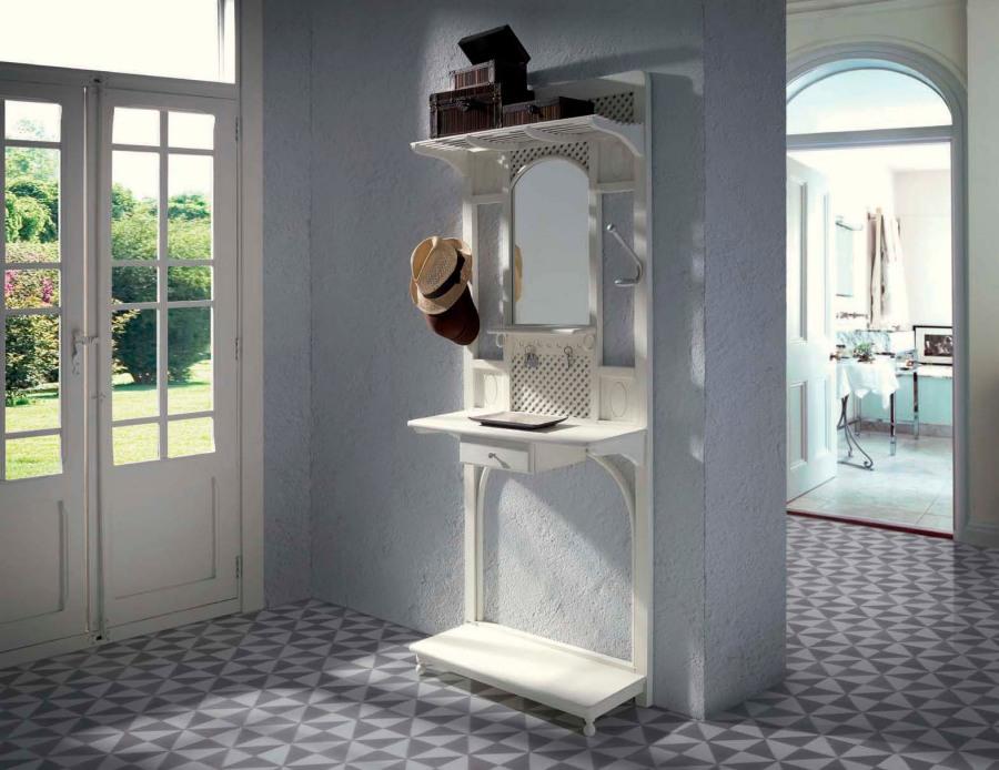 Mueble entrada gabanero rústico vintage - Villalba Interiorismo