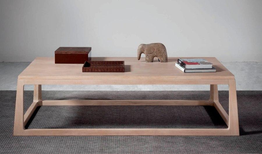 Mesa centro moderna madera teca - Villalba Interiorismo (2)