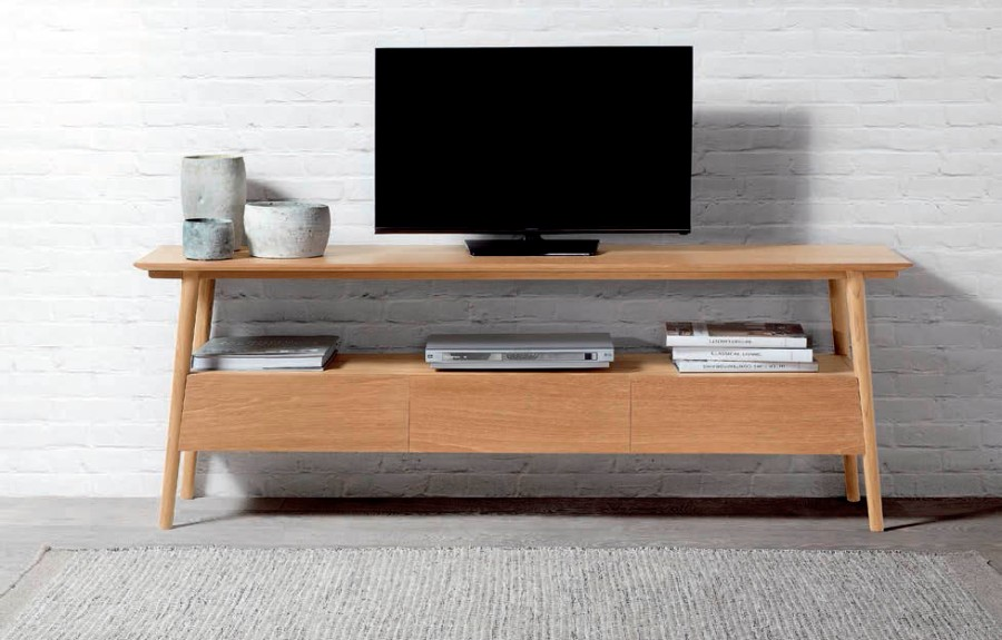 Mueble TV madera teca - Villalba Interiorismo