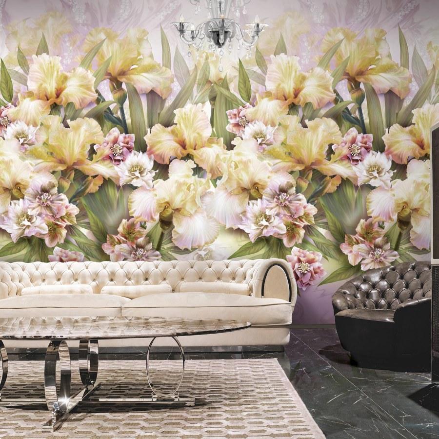 Mural de flores MAGIA di IRIS de Blumarine - Villalba Interiorismo