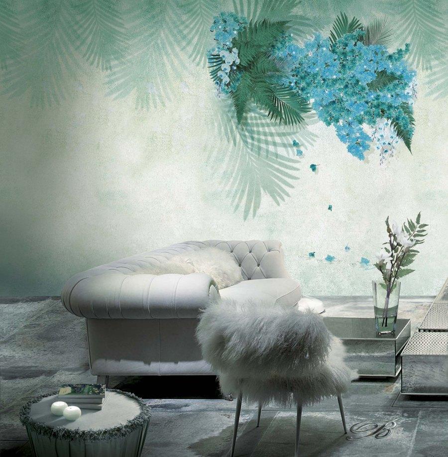 Mural flores BOUGANVILLE de Blumarine - Villalba Interiorismo