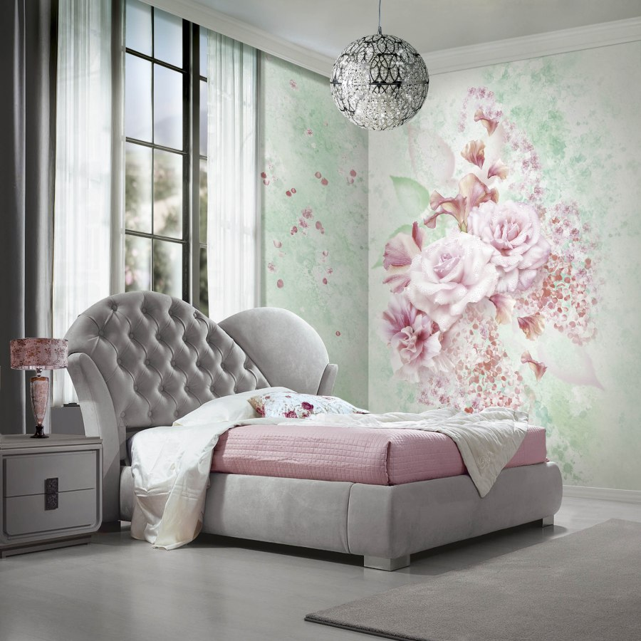 Mural flores en rosa Profumo di rose Blumarine - Villalba Interiorismo