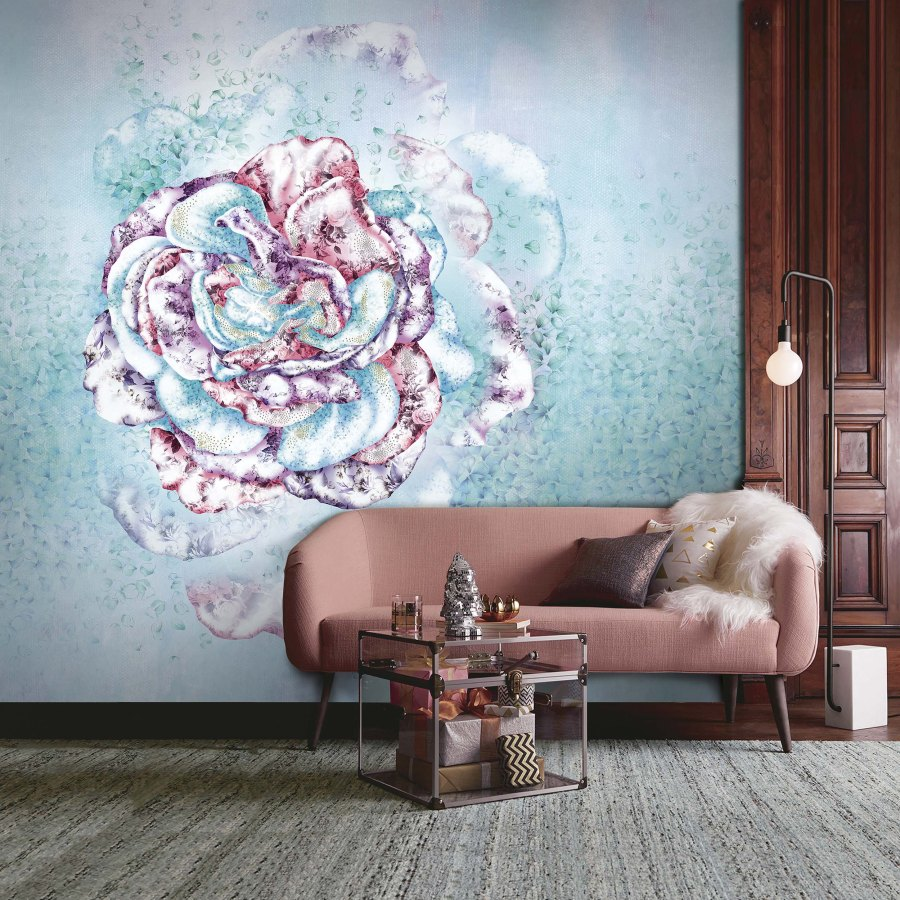 Mural Rosa Incantada de Blumarine - Villalba Interiorismo