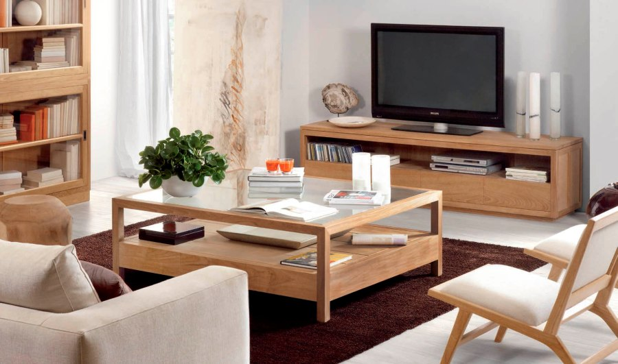 Muebles de dise o con madera de teca villalba interiorismo for Muebles madera teca