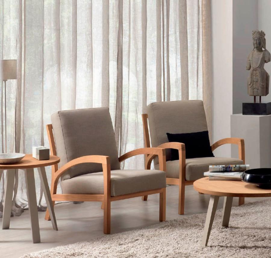 Sillones moderno madera teca - Villalba Interiorismo