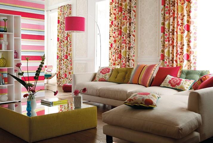Cortinas de flores - Villalba Interiorismo