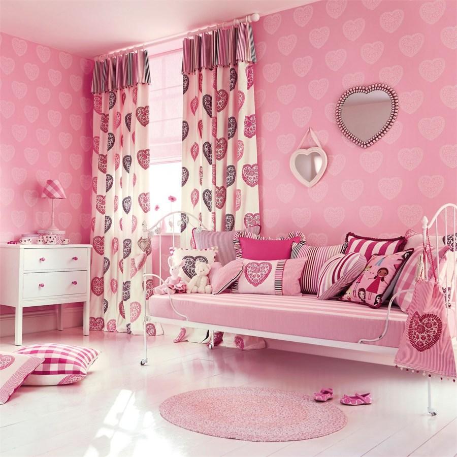 Dormitorio en rosa para niñas de Harlequin - Villalba Interiorismo