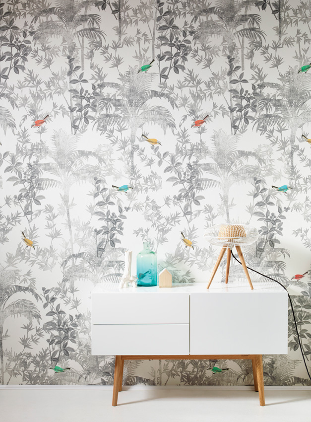 Panel pintado con pájaros de Khrôma de Coordonné - Villalba Interiorismo