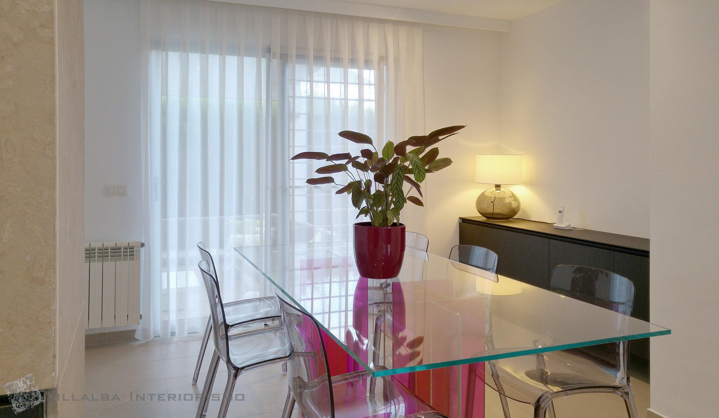 decoracin para salones modernos cortinas paneles japoneses cortinas de salon modernas fotos with cortinas para comedor modernas - Cortinas Salon Moderno
