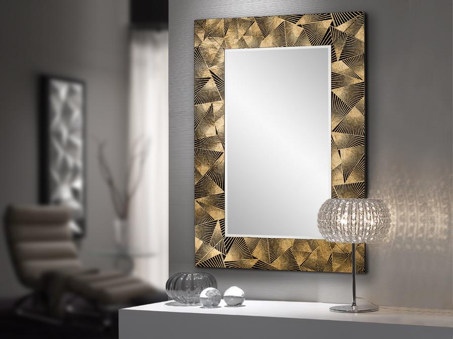 espejo-dorado-recibidor-villalba-interiorismo