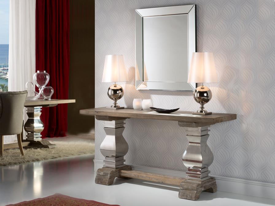 Consejos para un look elegante en el recibidor villalba for Espejos para entrada modernos